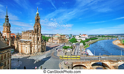 Old Town and of Katholische Hofkirche,Opera Semperoper,...