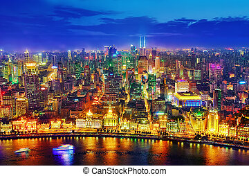 SHANGHAI, CHINA - MAY 23, 2015:Beautiful view of Shanghai -...