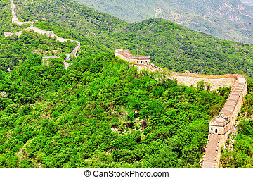 """Great Wall of China, section """"Mitianyu"""". Suburbs of Beijing."""