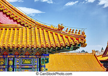 Palaces, pagodas inside the territory of the Forbidden City...