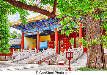Temple of Confucius at Beijing is the second largest...
