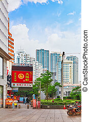 SHANGHAI, CHINA - MAY 23, 2015:Beautiful view of Shanghai...