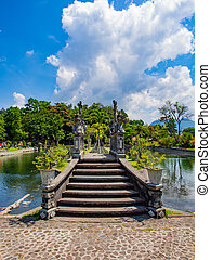 Water Palace of Tirta Gangga in East Bali, Indonesia