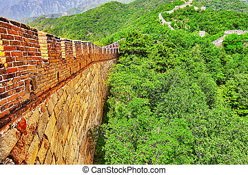 Close-Up Great Wall of China, section quot;Mitianyuquot; -...
