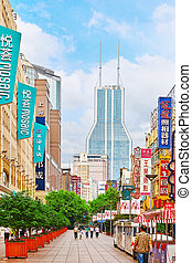 SHANGHAI, CHINA - MAY 24, 2015:Beautiful view of Shanghai...