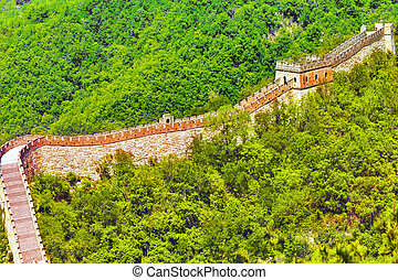 "Great Wall of China, section ""Mitianyu"". Suburbs of Beijing."