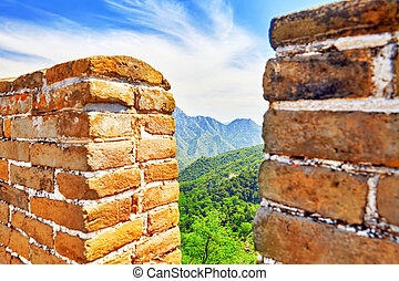 "Close-Up Great Wall of China, section ""Mitianyu"". - Close-Up..."