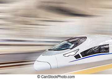 Modern Hi-Speed Passenger Train Motion effect