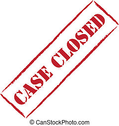 Case closed - Red stamp case closed, vector illustration