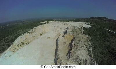 Abandoned calcium carbonate quarry in Dalmatian hinterland -...