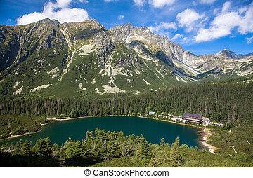 Tarn Popradske pleso in High Tatras, Slovakia - Tarn...