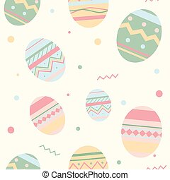 Easter Holiday pattern with eggs