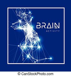Concept of an Active Human Brain Vector illustration