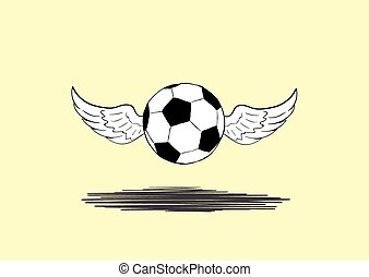 Winged soccer ball