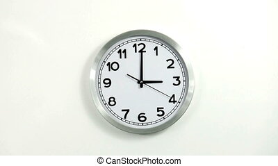 clock - 24 hours time lapse Real clock, no 3D animation 30p...