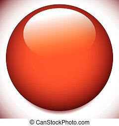 Sphere, circle buttons with blank space and glossy effect