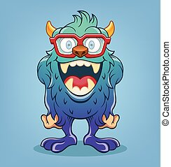 Vector monster cartoon illustration