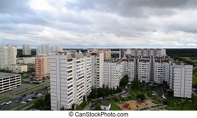City landscape of district in Moscow Russia, - City...