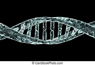 DNA - Diseased DNA strand.
