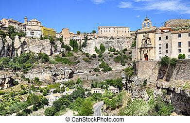 View of Cuenca, Castilla La Mancha, Spain.