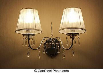Wall sconces with two lights in a classic style