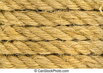 Twine - Plane of several layers of thick rope as background