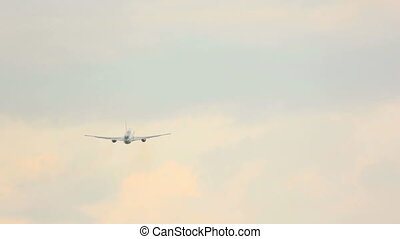 Airplane take-off - Airbus 330 taking off from Frankfurt am...