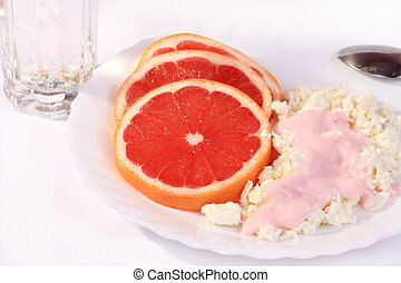 healthy breakfast - healthy breakfast of grapefruit and...