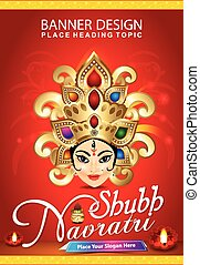 shubh navratri background with god - shubh navratri...
