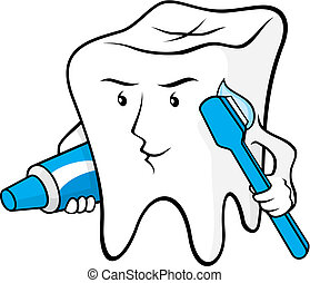 Tooth protected vector - Tooth cartoon smiling with...