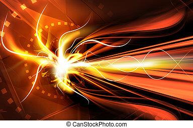 Digital background - Digital illustration of colour in...