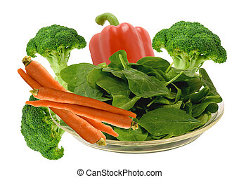 vegetable loaded with vitamin - spinach,carrots,broccoli and...