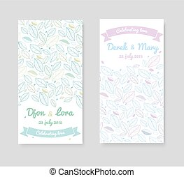 invitation cards - Wedding invitation cards with floral...