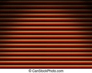 Red tube background dramatically lit - Red horizontal tube...
