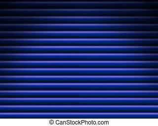 Blue tube background dramatically lit - Blue horizontal tube...