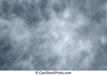 Dark clouds lighter toward center - Dark clouds fill frame...