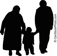 grandfather and grandmother and son