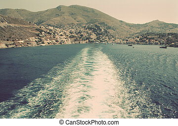 Greece Island Symi Simi Mandraki harbor In instagram style...