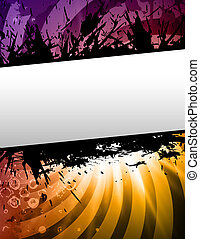 party - multi colored party poster  in retro style