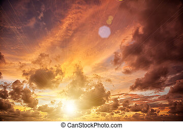 sunset sky background - beautiful sunrise with sky in the...