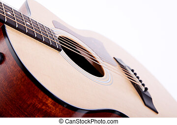 Guitar - Classical guitar on white background. Music image