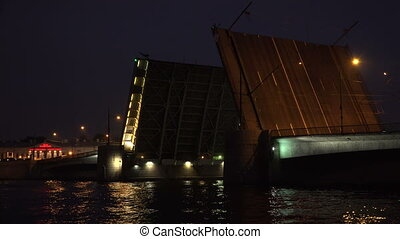 Tuchkov drawbridge Saint-Petersburg 4K - Tuchkov drawbridge...