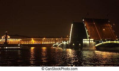 Birzhevoy drawbridge Saint-Petersburg 4K - Birzhevoy...