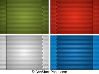 Striped Paper Background - Design Element Illustration,...
