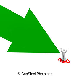 Target Your Audience Green Arrow Pointing Man Person Customer Prospect