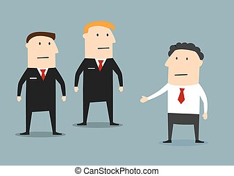Businessman with guards on meeting