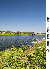 River the Meuse in Holland - Landscape river the Meuse in...
