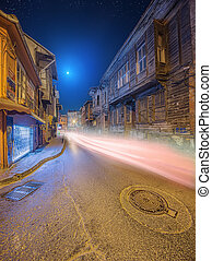 Old streets of Istanbul by night Istanbul, Turkey