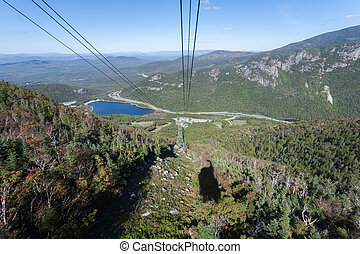 Cannon Mountain - Riding the aerial tramway on Cannon...