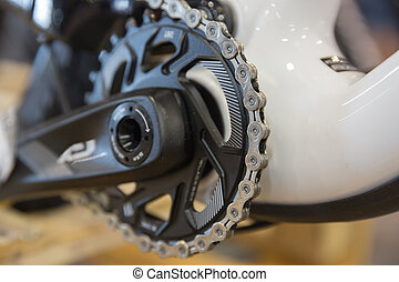 Mtbike chainrings - Particular of a mountain bike chainring...